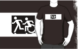 Accessible Exit Sign Project Wheelchair Wheelie Running Man Symbol Means of Egress Icon Disability Emergency Evacuation Fire Safety Adult T-shirt 632