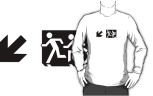 Accessible Exit Sign Project Wheelchair Wheelie Running Man Symbol Means of Egress Icon Disability Emergency Evacuation Fire Safety Adult T-shirt 634