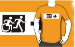 Accessible Exit Sign Project Wheelchair Wheelie Running Man Symbol Means of Egress Icon Disability Emergency Evacuation Fire Safety Adult T-shirt 639