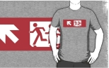 Accessible Exit Sign Project Wheelchair Wheelie Running Man Symbol Means of Egress Icon Disability Emergency Evacuation Fire Safety Adult T-shirt 644