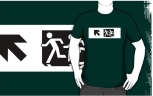 Accessible Exit Sign Project Wheelchair Wheelie Running Man Symbol Means of Egress Icon Disability Emergency Evacuation Fire Safety Adult T-shirt 651