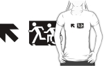 Accessible Exit Sign Project Wheelchair Wheelie Running Man Symbol Means of Egress Icon Disability Emergency Evacuation Fire Safety Adult T-shirt 653