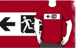 Accessible Exit Sign Project Wheelchair Wheelie Running Man Symbol Means of Egress Icon Disability Emergency Evacuation Fire Safety Adult T-shirt 654