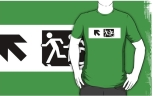 Accessible Exit Sign Project Wheelchair Wheelie Running Man Symbol Means of Egress Icon Disability Emergency Evacuation Fire Safety Adult T-shirt 656