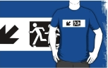 Accessible Exit Sign Project Wheelchair Wheelie Running Man Symbol Means of Egress Icon Disability Emergency Evacuation Fire Safety Adult T-shirt 658