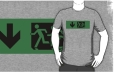 Accessible Exit Sign Project Wheelchair Wheelie Running Man Symbol Means of Egress Icon Disability Emergency Evacuation Fire Safety Adult T-shirt 83