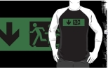 Accessible Exit Sign Project Wheelchair Wheelie Running Man Symbol Means of Egress Icon Disability Emergency Evacuation Fire Safety Adult T-shirt 86