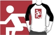 Accessible Exit Sign Project Wheelchair Wheelie Running Man Symbol Means of Egress Icon Disability Emergency Evacuation Fire Safety Adult t-shirt 89
