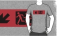 Accessible Exit Sign Project Wheelchair Wheelie Running Man Symbol Means of Egress Icon Disability Emergency Evacuation Fire Safety Adult T-shirt 9
