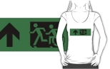 Accessible Exit Sign Project Wheelchair Wheelie Running Man Symbol Means of Egress Icon Disability Emergency Evacuation Fire Safety Adult T-shirt 97