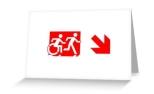 Accessible Exit Sign Project Wheelchair Wheelie Running Man Symbol Means of Egress Icon Disability Emergency Evacuation Fire Safety Greeting Card 101