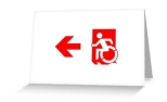 Accessible Exit Sign Project Wheelchair Wheelie Running Man Symbol Means of Egress Icon Disability Emergency Evacuation Fire Safety Greeting Card 102