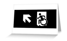 Accessible Exit Sign Project Wheelchair Wheelie Running Man Symbol Means of Egress Icon Disability Emergency Evacuation Fire Safety Greeting Card 114