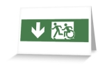 Accessible Exit Sign Project Wheelchair Wheelie Running Man Symbol Means of Egress Icon Disability Emergency Evacuation Fire Safety Greeting Card 119