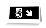 Accessible Exit Sign Project Wheelchair Wheelie Running Man Symbol Means of Egress Icon Disability Emergency Evacuation Fire Safety Greeting Card 120