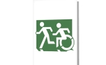 Accessible Exit Sign Project Wheelchair Wheelie Running Man Symbol Means of Egress Icon Disability Emergency Evacuation Fire Safety Greeting Card 123