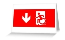 Accessible Exit Sign Project Wheelchair Wheelie Running Man Symbol Means of Egress Icon Disability Emergency Evacuation Fire Safety Greeting Card 126