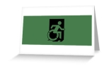 Accessible Exit Sign Project Wheelchair Wheelie Running Man Symbol Means of Egress Icon Disability Emergency Evacuation Fire Safety Greeting Card 1
