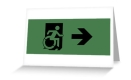 Accessible Exit Sign Project Wheelchair Wheelie Running Man Symbol Means of Egress Icon Disability Emergency Evacuation Fire Safety Greeting Card 13