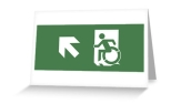 Accessible Exit Sign Project Wheelchair Wheelie Running Man Symbol Means of Egress Icon Disability Emergency Evacuation Fire Safety Greeting Card 16