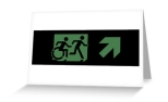 Accessible Exit Sign Project Wheelchair Wheelie Running Man Symbol Means of Egress Icon Disability Emergency Evacuation Fire Safety Greeting Card 2
