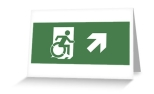 Accessible Exit Sign Project Wheelchair Wheelie Running Man Symbol Means of Egress Icon Disability Emergency Evacuation Fire Safety Greeting Card 22