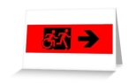 Accessible Exit Sign Project Wheelchair Wheelie Running Man Symbol Means of Egress Icon Disability Emergency Evacuation Fire Safety Greeting Card 27