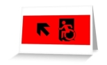 Accessible Exit Sign Project Wheelchair Wheelie Running Man Symbol Means of Egress Icon Disability Emergency Evacuation Fire Safety Greeting Card 34