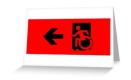 Accessible Exit Sign Project Wheelchair Wheelie Running Man Symbol Means of Egress Icon Disability Emergency Evacuation Fire Safety Greeting Card 35