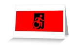 Accessible Exit Sign Project Wheelchair Wheelie Running Man Symbol Means of Egress Icon Disability Emergency Evacuation Fire Safety Greeting Card 37