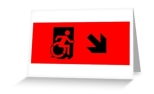 Accessible Exit Sign Project Wheelchair Wheelie Running Man Symbol Means of Egress Icon Disability Emergency Evacuation Fire Safety Greeting Card 40
