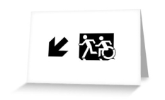 Accessible Exit Sign Project Wheelchair Wheelie Running Man Symbol Means of Egress Icon Disability Emergency Evacuation Fire Safety Greeting Card 41