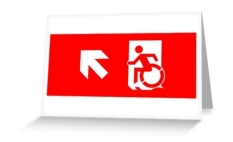 Accessible Exit Sign Project Wheelchair Wheelie Running Man Symbol Means of Egress Icon Disability Emergency Evacuation Fire Safety Greeting Card 4