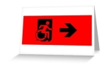 Accessible Exit Sign Project Wheelchair Wheelie Running Man Symbol Means of Egress Icon Disability Emergency Evacuation Fire Safety Greeting Card 42