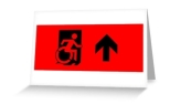 Accessible Exit Sign Project Wheelchair Wheelie Running Man Symbol Means of Egress Icon Disability Emergency Evacuation Fire Safety Greeting Card 43