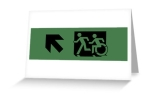 Accessible Exit Sign Project Wheelchair Wheelie Running Man Symbol Means of Egress Icon Disability Emergency Evacuation Fire Safety Greeting Card 56