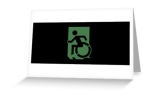 Accessible Exit Sign Project Wheelchair Wheelie Running Man Symbol Means of Egress Icon Disability Emergency Evacuation Fire Safety Greeting Card 57