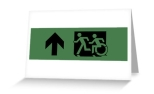 Accessible Exit Sign Project Wheelchair Wheelie Running Man Symbol Means of Egress Icon Disability Emergency Evacuation Fire Safety Greeting Card 58