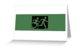 Accessible Exit Sign Project Wheelchair Wheelie Running Man Symbol Means of Egress Icon Disability Emergency Evacuation Fire Safety Greeting Card 59