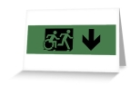 Accessible Exit Sign Project Wheelchair Wheelie Running Man Symbol Means of Egress Icon Disability Emergency Evacuation Fire Safety Greeting Card 60