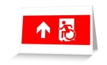 Accessible Exit Sign Project Wheelchair Wheelie Running Man Symbol Means of Egress Icon Disability Emergency Evacuation Fire Safety Greeting Card 6
