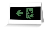Accessible Exit Sign Project Wheelchair Wheelie Running Man Symbol Means of Egress Icon Disability Emergency Evacuation Fire Safety Greeting Card 63