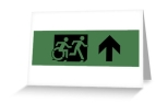 Accessible Exit Sign Project Wheelchair Wheelie Running Man Symbol Means of Egress Icon Disability Emergency Evacuation Fire Safety Greeting Card 64