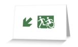 Accessible Exit Sign Project Wheelchair Wheelie Running Man Symbol Means of Egress Icon Disability Emergency Evacuation Fire Safety Greeting Card 68