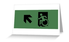 Accessible Exit Sign Project Wheelchair Wheelie Running Man Symbol Means of Egress Icon Disability Emergency Evacuation Fire Safety Greeting Card 72