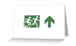 Accessible Exit Sign Project Wheelchair Wheelie Running Man Symbol Means of Egress Icon Disability Emergency Evacuation Fire Safety Greeting Card 76