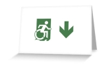 Accessible Exit Sign Project Wheelchair Wheelie Running Man Symbol Means of Egress Icon Disability Emergency Evacuation Fire Safety Greeting Card 79