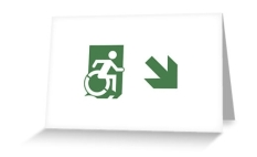 Accessible Exit Sign Project Wheelchair Wheelie Running Man Symbol Means of Egress Icon Disability Emergency Evacuation Fire Safety Greeting Card 80