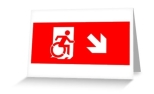 Accessible Exit Sign Project Wheelchair Wheelie Running Man Symbol Means of Egress Icon Disability Emergency Evacuation Fire Safety Greeting Card 8