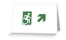Accessible Exit Sign Project Wheelchair Wheelie Running Man Symbol Means of Egress Icon Disability Emergency Evacuation Fire Safety Greeting Card 81